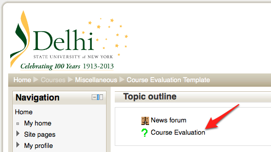 Online Course Evaluations  Editing The Existing Template  Delhi